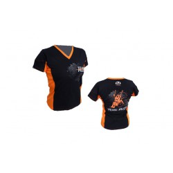 T-shirt homme pilote Nirvana team pilot Noir/Orange